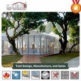 grande tenda di alluminio di lusso esterna della festa nuziale del blocco per grafici 10m con le pareti di vetro