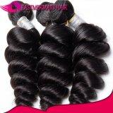 Cabelo humano do Weave brasileiro preto natural frouxo do cabelo do Virgin da onda
