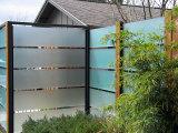 12mm em Vidro Temperado Fosco para o zoneamento de Piscina/Balaustrada