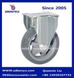 Grauer Polyurethan-mittlere Hochleistungsschwenker-Fußrolle mit Bremse