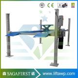 2 elevación hidráulica del coche del poste vertical eléctrico del hogar 4 del poste