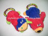 羊毛ペットおもちゃのプラシ天の柔らかい猿およびカエル