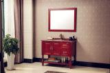 Klassischer Art-Badezimmer Furinture festes Holz-Badezimmer-Schrank