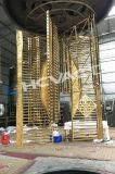 Macchina di rivestimento dello ione di vuoto del tubo dello strato dell'acciaio inossidabile dell'oro dello stagno di PVD