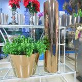 Pot de terre de style simple pour décoration extérieure intérieure Acier inoxydable