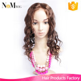 a cor natural do 1b #1 #2 #4 pode escolher tampões de vista naturais humanos da peruca da peruca do cabelo da parte dianteira frouxa indiana do laço da onda melhor