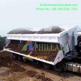 2 de los ejes delantero/trasero del camión volquete de remolque semi
