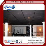 Tuile acoustique de plafond suspendue par fibre minérale tégulaire