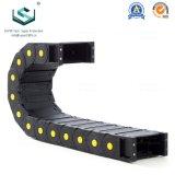 Serie 65 máquina CNC flexible de nylon de plástico envuelto de la energía de la cadena de cable de arrastre de rodillos
