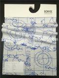 ينهى بناء 100% [كتّون بوبلين] بيضاء أرض يطبع خريطة زرقاء