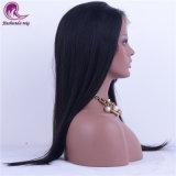 El cabello virgen india pleno encaje peluca larga recta Cabello
