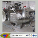 Esterilizador a vapor de pressão contra pressão para controle de controle de alimentos enlatados