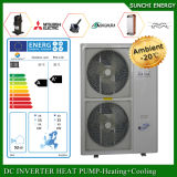 Evi Tech. -25c Winter House Floor Heating 100 ~ 350sq Meter 12kw / 19kw / 35kw High Cop Climatiseur Heat Pump Split Water Calentateur