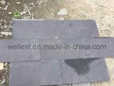 Mattonelle nere naturali di qualità superiore dell'ardesia St-018 per il rivestimento murale e del pavimento ed il rivestimento