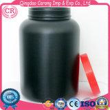 Bottiglia di plastica nera rotonda dell'HDPE per la polvere del proteina del siero