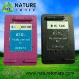 Cartucho de tinta remanufacturado 62XL Bk (C2P05A), 62XL Color (C2P07A) para impresora HP