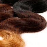 da onda brasileira do corpo do cabelo do Virgin de 7A Ombre cabelo louro de Remy