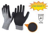 Уровень 3 Разрез устойчив вязания рабочие перчатки