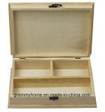 Многофункциональный естественного цвета деревянный ящик для хранения для кольца серьги ожерелья организатор украшения случае DIY окраска ремесла в салоне