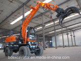 Máquina de madeira Bd80-8 de Loaidng das máquinas escavadoras da roda de China Baoding