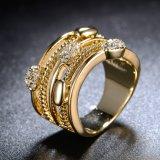 형식 여자를 위한 우아한 보석 18K 금 색깔 반지