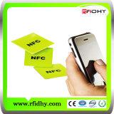 Étiquette passive imperméable à l'eau du collant NFC d'IDENTIFICATION RF de l'IDENTIFICATION RF 13.56MHz ISO14443A d'à haute fréquence de prix usine (ultra-léger, NTAG213)