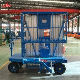 table élévatrice réglable hydraulique en aluminium de levage personnalisée par mât double ou simple de la hauteur 200kg avec la conformité d'OIN de la CE
