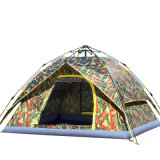 カムフラージュのテント、3-4人のキャンプテント