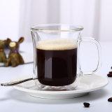 Copa de leche Anti-Hot taza de café de vidrio de doble pared tazas de café