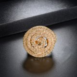 De nieuwe Juwelen van de Ring van de Juwelen van Doubai van het Kristal van het Netwerk van de Manier Kunstmatige Gouden