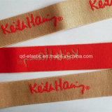 35mm 연약한 폴리에스테 짜임새 가죽 끈 악대 작풍 주문 색깔 자카드 직물 고무줄