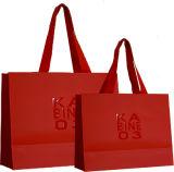 Sacs de luxe de cadeau de Laminationed, sacs en papier de achat, sacs en papier