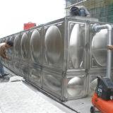 El tanque de agua del acero inoxidable que ensambla