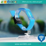 Wegwerf-RFID Kurbelgehäuse-Belüftungkarte gesponnener Wristband für Festival