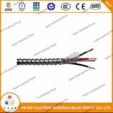 Câble de Mc de gaine de PVC d'armure enclenché par aluminium indiqué par UL
