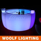 LED 둥근 바 카운터에 의하여 조명되는 LED 표시등 막대 테이블