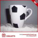 Ciotola di ceramica impressa di gioco del calcio con colore interno per il regalo promozionale