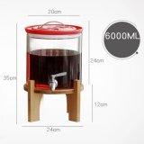 飲み物の立場が付いているガラス飲料ディスペンサー