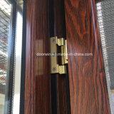 Outswing Ventana con acabado en color de grano de madera