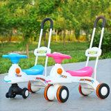 Nova chegada de brinquedos de plástico de boa qualidade 3 viagem de roda no carro de passeio para bebé