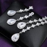 De recentste Witte Reeks van de Juwelen van het Huwelijk van de Oorring van de Tegenhanger van de Manier Zircon Bruids