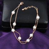 Pulsera plateada oro al por mayor de la perla del encanto de la joyería de la aleación
