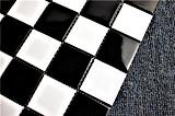 Черный и белый керамический бассейн мозаика плитка