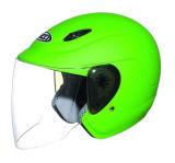 オートバイの点が付いている開いた表面ヘルメット