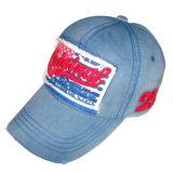 ロゴ#05の洗浄されたジーンズの帽子