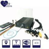 Registrador móvel da segurança DVR DVR da canaleta de Alam 4 do carro de Caredrive com cartão de SIM