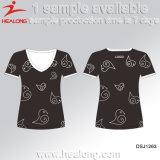 Healong 최고 판매 t-셔츠를 인쇄하는 운동복에 의하여 주문을 받아서 만들어지는 실크 스크린