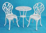 All Weather Patio exterior de fundición de aluminio Muebles de jardín silla de mesa