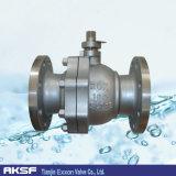 Válvula de esfera de flutuação da flange do aço inoxidável de aço de carbono