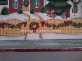 Rustikales Weinlese-hölzerner Rahmen-Umhüllung-Tellersegment für Weihnachten